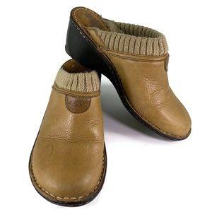 UGG Australia Gael Clog Wedge Leather Fleece Mules